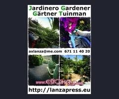 Jardinero con pick-up.
