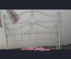 Cama de forja blanco
