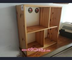 Cama individual + Mesa escritorio + Estantería