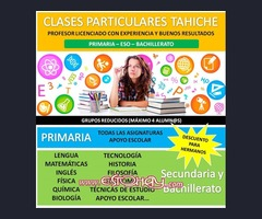 CLASES PARTICULARES EN TAHICHE
