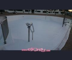 Enfibrado y pintura de piscinas