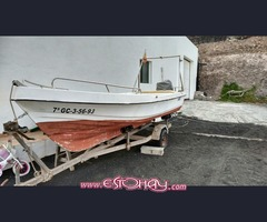 Barco hoby 5m + remolque + motor