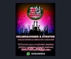 DJ,KARAOKE,LUCES Y SONIDO,