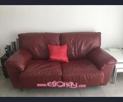 Sofa cama, mueble TV, mueble 2 cajones