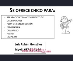 SE OFRECE CHICO PARA OFICIOS VARIOS