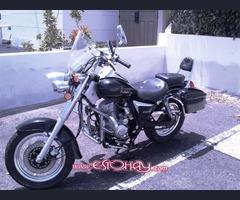 moto custom en buen estado
