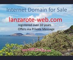 Lanzarote dominio de Internet para la venta