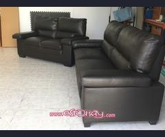 Conjunto de sofás de polipiel