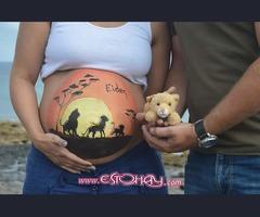 Maquillaje corporal para embarazadas