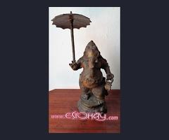Figura de Bronce Ganesh o Ganesha con paraguas