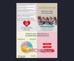 Conferencia: Adolescencia,siguiente etapa de maduración