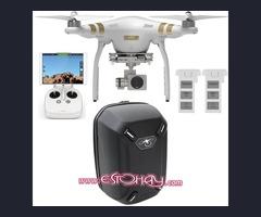 DRON PHANTOM 3 PRO 4K + MOCHILA DURA DJI + 3 BATERÍAS