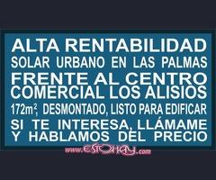 Vendo Solar Urbano frente al CC Los Alisios en Las Palmas de GC