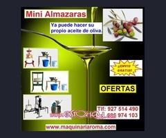 Minialmazara, Molino, Prensa.