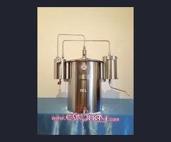 Alambiques en Acero Inoxidable para aceite esencial, orujo, licor