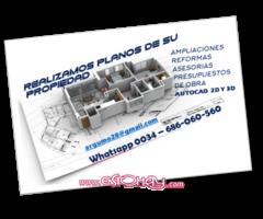 SE REALIZAN PLANOS DE ARQUITECTURA / INSTALACIONES / AUTOCAD