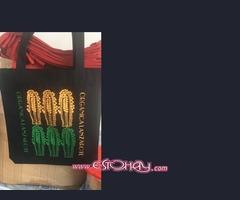 Stock de bolsos en tela reciclada