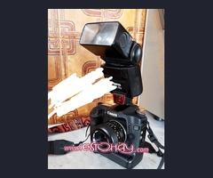 Canon 50d con grip+objetivos ,flash y accesorios