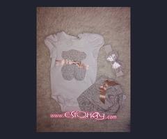 Moda bebé,   ropa y lazos