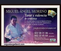 Miguel  Ángel  Tarot, tu tarotista y vidente de confianza.