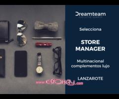 Store Manager – Multinacional complementos lujo Lanzarote