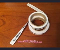 Etiquetas tejidas adhesivas para marcar ropa