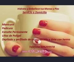 Servicio de Manicura y Pedicura, cejas con hilo y henna