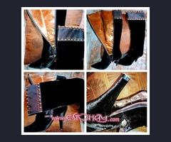 Abrigo,bolso,botas,sandalias
