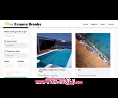 Vendo Página de Web de Alquiler de Villas en España