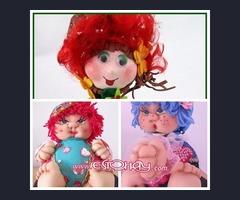 Muñecas artesanas de trapo