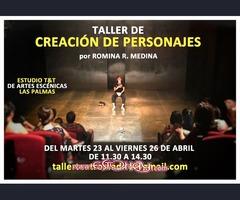 TALLER CREACIÓN DE PERSONAJES EN TEATRO