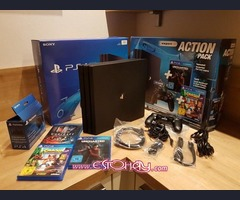 SONY PS4 PRO Konsole 1TB + NEUER Controlador con cable - 8games - Playstation 4