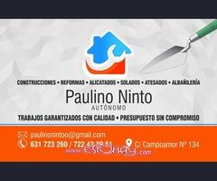PAULINO NINTO CONSTRUCCIONES Y REFORMAS.