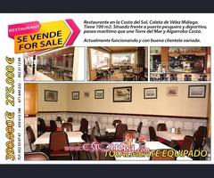 Restaurante en la costa del sol Caleta de Velez Malaga
