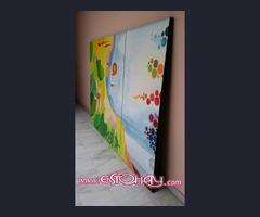 Biombos decorativo pintando a mano