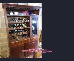 Mueble botellero de teka