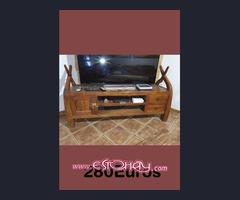 Muebles de televisor rustico