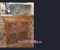 Mueble de baño lavabo de piedra