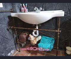 Mueble de baño rustico de forja