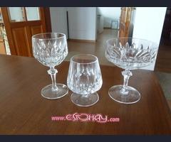 vasos de cristal de plomo