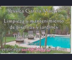 limpieza y mantenimiento de piscinas y jardines