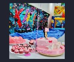 Cafeteria especializada en cumpleaños infantiles con jugueteria