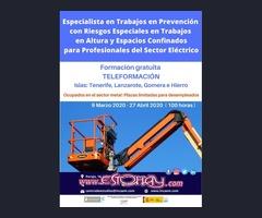 Trabajos en Prev. con Riesgos Espe.  para  el Sector Electrico