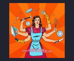 Chica se ofrece para limpiar, planchar, cocinar...