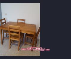 Mesa y 4 sillas y Armario de 2 puertas