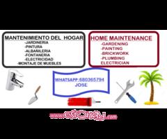 mantenimiento del hogar y el jardin