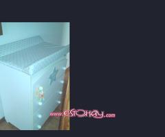 Mueble cambiador de bebé marca Mi cuna edición My star