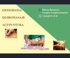 Osteopatia, quiromasaje, acupuntura