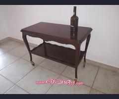 Mesa camarera vintage de doble estante