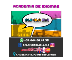CLASES DE INGLÉS, FRANCÉS, ESPAÑOL Y APOYO ESCOLAR